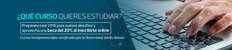 Cursos Online y Semipresenciales certificados por la Universidad Adolfo Ibáñez